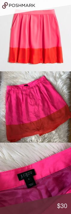 J Crew Colorblock Flouncy Flare Skirt Excellent condition with little to no wear and tons of life left. Same day/next day shipping. NO TRADES PLEASE J. Crew Skirts Mini