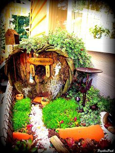 "Fairy Garden ""Love Shack"" heart-shaped fairy house - this is adorable! via Flickr on imgfave - fairy gardens & minis"