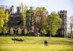 Grey Towers Castle, Philadelphia Sugar magnate William Welsh Harrison modeled his castle after England's famous Alnwick Castle. Castle Ruins, Castle House, Arcadia University, Places Around The World, Around The Worlds, Alnwick Castle, Costa, Beautiful Castles, Beautiful Places