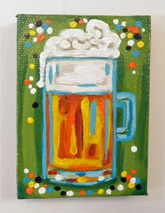 Party Beer Painting. By Lipgloss and Lemons