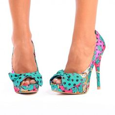 Fiesta Skull Peep Toe Platform ♥ Pink - Platforms - Shoes