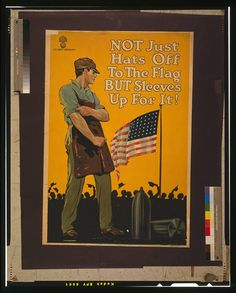 WW1 poster encouraging morale of US workers