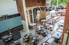Hotel de Hallen Amsterdam, cool hotel & restaurants & movies