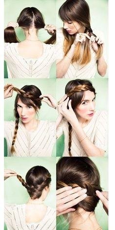 Braid Crowns Tutorial.  #braid #hair #hairstyle #updo #howto #tutorial | Daft Pink Beauty