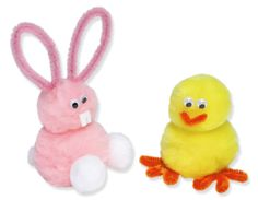 pom pom bunny and Chick...cute and easy to make!