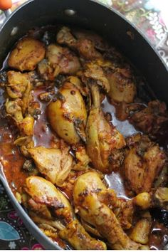 Moroccan Chicken - trying tonight with spices from island of Grenada and in a large dish over the stove!