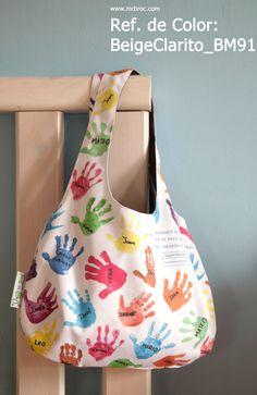 Referencia de color: BLANCO_BM91 Bolsos personalizados con los dibujos de tus niños. www.mrbroc.com