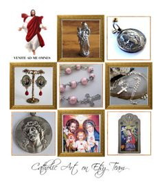 """""""Religious Art on Etsy by TerryTiles2014 - Volume 245"""" by terrytiles2014 on Polyvore featuring etsy, art, catholic, religious, treasures, interior, interiors, interior design, Casa e home decor"""