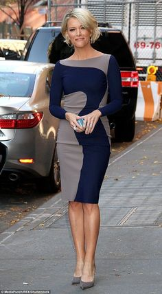 Look like Megyn: Megyn Kelly (above on Thursday) urged her Twitter followers looking to lose weight before the holidays to pick up her memoir Settle For More