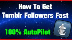 Now you know how to get a lot of followers on tumblr.  Discount link - -  http://realtawk.rootjazztum.c2strack.com/  Tumblr is one of the most popular social media websites in the world. It has millions of users with even more blogs.   Harness the power of Tumblr.   Grow your blogs to new heights on autopilot.   Everything has been automated, such as liking, following, unfollowing, posting images, and much more.  NO monthly fees or any hidden costs.