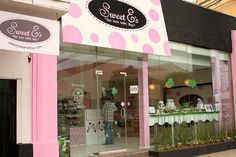 Out Front at Sweet E's Bake Shop , outfrount on Robertson Blvd. just south of pico