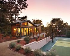 An accessible home sports court! Just wonderful!
