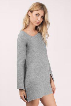 New Arrivals, Grey Marle Break Free Knit Dress