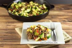 Easy to make Keto Zucchini Recipes perfect for breakfast, lunch and dinner. Recipes for zoodles, keto friendly side dishes and snacks and low carb desserts. Gluten free, low carb and ketogenic friendly. Mini Hamburgers, Halloumi, Mexican Zucchini, Zucchini Tomato, Healthy Zucchini, Beef Skillet Recipe, Skillet Meals, All You Need Is, Low Carb Recipes