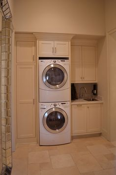 Arresting Broom Closet house designs New Orleans Eclectic stackable washer and dryer stacked washer and dryer