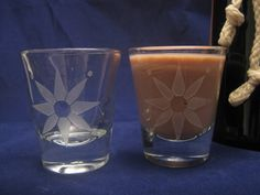 Star Etched Shot Glasses by DancesWithMonsters on Etsy, $8.00