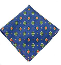Pure Italian Silk Pocket Square with Pattern