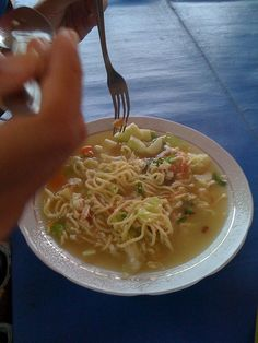 Mie godhok, Javanese, Indonesia Traditional Noodles. | #Delicious #Traditional #Indonesia #Foods Indonesian Cuisine, Indian Food Recipes, Ethnic Recipes, Javanese, Noodles, Spaghetti, Food And Drink, Lunch, Traditional