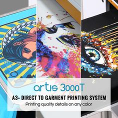89059682 artis 3000T A3+ DTG printer: a great and creative resource for direct to garment  printing