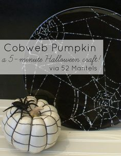 Cobweb Pumpkin Tutorial (5 minute Halloween craft)