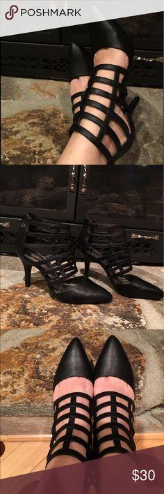 Black heels Beautiful black heels. Worn once for a weeding. Fergalicious Shoes Heels