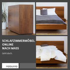 Mache dein Schlafzimmer zu deinem ganz persönlichen Wohlfühlraum. Vom Maßbett über Kommoden bis hin zum Beistelltisch kann bei MOBILAMO alles individuell angepasst werden.   Bei den Maßbetten bestimmst du die genauen Maße (Breite, Höhe, Länge), das Material und das Design. So passt dein maßgefertigtes Bett perfekt in dein Schlafzimmer. Passend zum Bett kannst du auch individuelle Kommoden in deinen Wunschmaßen konfigurieren. So kannst du dein perfektes Schlafzimmer designen!