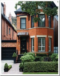 Nice, clean, simple townhouse front landscaping.