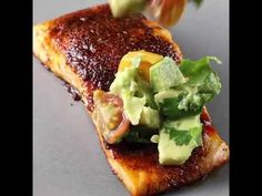 Chili-Rubbed Grilled Salmon with Avocado Salsa-could also use mango salsa