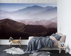 Hey, look at this wallpaper from Rebel Walls, Gradient Mountains! #rebelwalls #wallpaper #wallmurals