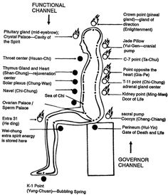 microcosmic orbit - These pathways are the same pathways used in Traditional Chinese Medicine, Acupuncture, Tai Chi, Taoist Yoga, Qigong (Chi Kung), Tai Chi Ch'uan, and Neidan.