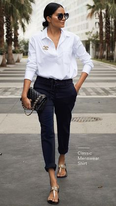 Newest Stylish Spring Outfits Women Ideas To Try This Season In 2020 : Page 17 of 27 : Creative Vision Design - Work Outfits Women Spring Outfits Women, Summer Work Outfits, Mode Outfits, Chic Outfits, Fashion Outfits, Inspired Outfits, Fashion Clothes, Girl Outfits, White Shirt Outfits
