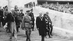 Reich Chancellor Adolf Hitler leading officials of the International Olympic Committee into the Berlin Olympic Stadium, Germany, 21 Jun photo 1 of 2 Marathon, Berlin Olympics, Jesse Owens, Olympic Committee, Today In History, Summer Olympics, Track And Field, Opening Ceremony, Olympic Games