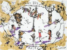 Around the Camp Artist: Brad Kahlhamer (Native American, born Arizona, 1956) Date: 2001 Geography: United States, Arizona Culture: American Indian Medium: Ink and watercolor on paper