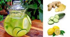 Una bebida con estos tres ingredientes te ayudará a perder peso rápidamente, observa cada uno de sus beneficios: las propiedades del limón regularizan nuestro metabolismo, eliminan las toxinas e inician el proceso de quema de grasa corporal, siendo de gran ayuda para bajar de peso.\r\n\r\n[ad]\r\nPor su parte, el pepino es un alimento que también es popular en las dietas porque su alto contenido de agua promueve la salud intestinal y de nuestra piel. Y finalmente, el jengibre juega un papel… Detox Recipes, Healthy Recipes, Nutribullet, Wine Drinks, Cucumber, Smoothies, The Cure, Food And Drink, Health Fitness