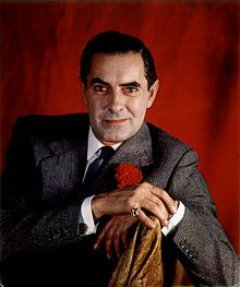 Tyrone Power born May 05, 1914-D: November 15, 1958. Actor of stage & screen.
