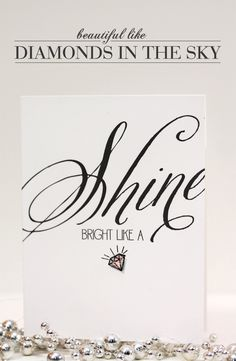Shine Bright Like a Diamond Card by @Damask Love