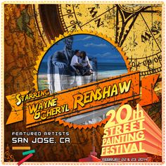 Wayne & Cheryl Renshaw  http://streetpaintingfestivalinc.org/index.php/artists/featured-artists/31-renshaw