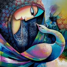 Amazing Canvas Paintings available at best price with IndianArtZone. Select from wide range of curated Abstract Art, Contemporary Art , Modern Art & Indian Paintings and many other wall paintings for living room. Indian Traditional Paintings, Indian Contemporary Art, Indian Art Paintings, Modern Art Paintings, Indian Artwork, Paintings Famous, Canvas Paintings, Beautiful Paintings, Landscape Paintings