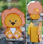 Lion Treat Box with Backside