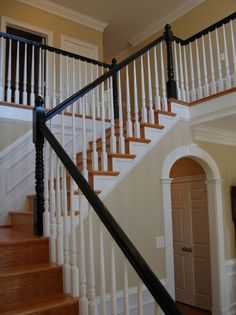 Paint handrails in black or espresso.