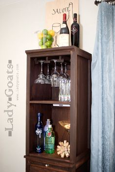 Ana White | Build a Mod Bar - Stemware Hutch | Free and Easy DIY Project and Furniture Plans
