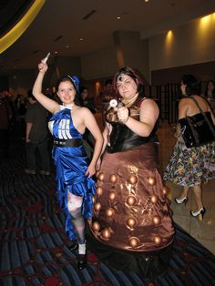 TARDIS and Dalek by foodbyfax on Flickr. Dalek, Tardis, Doctor Who, Formal Dresses, Fashion, Dresses For Formal, Moda, Formal Gowns, Fashion Styles
