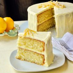 Lemon Velvet Cake - Developed from an outstanding Red Velvet Cake recipe, this lemon cake is a perfectly moist and tender crumbed cake with a lemony buttercream frosting. An ideal birthday cake for the lemon lover in your life..