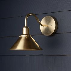 This Gooseneck Brass Shade Wall Sconce fixture features Raw Brass-Raw Brass Mount-Raw Brass Gooseneck pipe-Raw Brass RAW Brass Cone / 220 Watts Max-UL Listed-Universal Mou Nate Berkus, Bathroom Colors, Bathroom Sets, Shower Bathroom, Diy Shower, Bathrooms, Bathroom Light Fixtures, Bathroom Lighting, Bathroom Wall Sconces