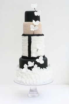 Victoria Made chanel inspired wedding cake - Read more on One Fab Day: http://onefabday.com/victoria-made-cakes/