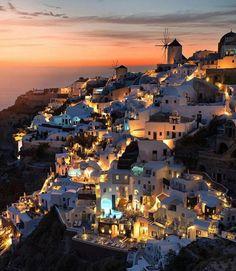 Santorini by night' by Juampi*