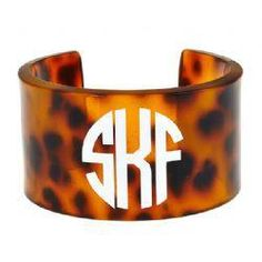 We love this chic personalized cuff from hip jewelry purveyor Fornash | #SouthernStyle #Monogram | SouthernLiving.com