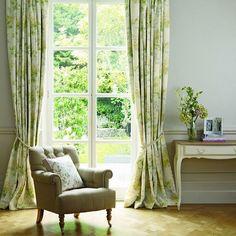 Большие окна + наши шторы в интерьере - это прекрасно!!! #lauraashleyru #style #window
