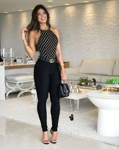Best black outfit for streets Business Casual Outfits, Chic Outfits, Fashion Outfits, Best Black Outfits, Look Fashion, Girl Fashion, Work Attire, Casual Chic, Casual Looks