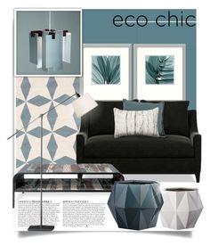 """eco chic"" by tiffanysblues ❤ liked on Polyvore featuring interior, interiors, interior design, home, home decor, interior decorating, Dash & Albert, Anja, Amanti Art and Williams-Sonoma"